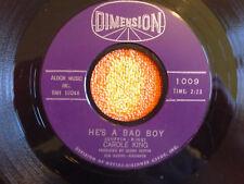 CAROLE KING He's A Bad Boy 45 rpm DIMENSION 1963 Teen Pop