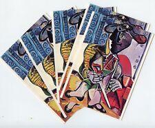 CP //  EXPOSITION PICASSO AVIGNON 1973 TORERO POUR JACQUELINE LOT 5 CARTES