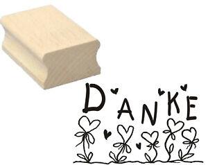 Stempel « DANKE » Herzen Motivstempel Dank Dankeschön Scrapbooking Karte Grüße
