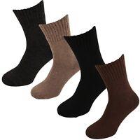 Thermal Lambswool Blend Heat Max 2.4 Tog Ribbed Long Socks - UK 6-11-0 EUR 39-45