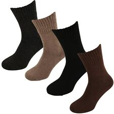 Lambswool Blend Ribbed Edge Heat Max 2.4 Tog Warm  Socks UK 6-11