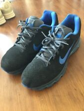 Nike Air Max 2011 Shoes Mens Size 12 Used Leather 456325 044 Black Blue