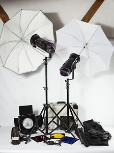 Bowens Esprit 250 - 2 Head Studio Flash Outfit. EXC Condition - Ideal First Kit.