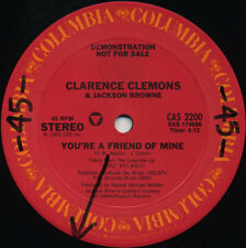 CLARENCE CLEMONS You're A Friend Of Mine (1985 U.S. 12inch Promo)