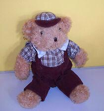 "Ganz 1994~11"" Tan Teddy Bear Corduroy Pants ""ALFRED""~Plush Stuffed Bear"