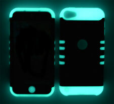 Gray Bricks Cover w/ Glow in Dark Silicone Case for Apple iPod Touch 5 Accessory