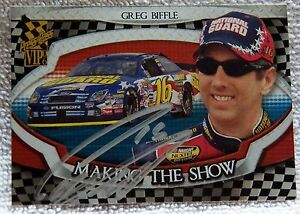 Nascar Star Greg Biffle Signed 2006 Press Pass VIP Making the Show Card Auto