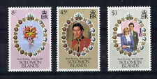 SOLOMON ISLANDS 1981 ROYAL WEDDING SET OF ALL 3 COMMEMORATIVE STAMPS MNH