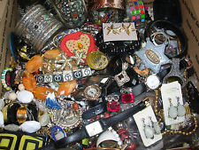 11+ LBS HUGE LOT Vintage & Mod COSTUME JEWELRY PARTS HARVEST JUNK DRAWER CRAFT