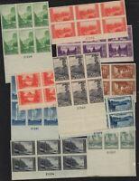 1935 National Parks FARLEY imperf unused Sc 756-65 plate blocks CV $254