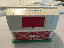 VINTAGE 1960s Fisher Price Little People BARN FARM Playset COOL