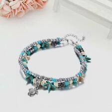 Anklets Multi Layer Bracelet Jewelr F5X6 Women Lady Vintage Shell Starfish Beads