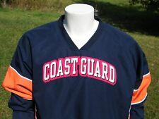 United States Coast Guard Mens Lined V Neck Windbreaker Pullover Jacket Sz M