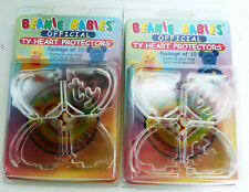 2 - 10 COUNT TY OFFICIAL BEANIE BABIES HEART TAG PROTECTORS ORIGINAL PACKAGES