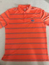 Cutter & Buck Florida Gators Uf Orange Striped Golf Polo Shirt Mens Xl