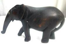 Vintage Hand carved wooden Elephant Figure Statue Home Decoration Indian Art