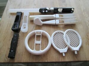 Nintendo Wii Sport accessories bundle with light sabre and nunchuck