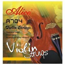 Alice VIOLIN STRINGS A704 full set 4/4 and 3/4 size E A D G steel core ball end
