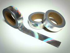 Washi Tape Sample 15mm x 1m Silber Glitzer Holo Nr.14