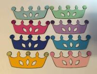 "DIE CUTS SET OF 12 PRINCESS CROWNS ""You choose color"" Embellishments"