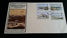 FALKLAND ISLANDS 1981 SG 388-391 EARLY SETTLEMENTS FIRST DAY COVER