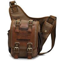 Vintage Men Women Shoulder Bag Canvas Messenger Bag Daypack Travel Sport Bag