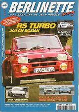 BERLINETTE MAG 17 ALPINE V6 GT A110 FASA A110 1300 V85 SIMCA 1200 S R5 TURBO 200