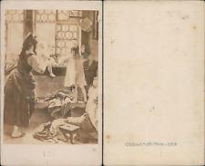 S.P Christmann, scène de vie, d'après dessin Vintage CDV albumen carte de v