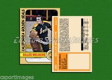 Gilles Meloche - California Golden Seals - Custom Hockey Card  - 1971-72