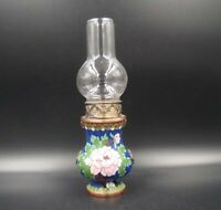 Collectible Handmade Copper Cloisonne Enamel oil lamp 7.87""
