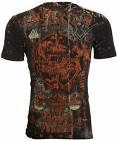ARCHAIC by AFFLICTION Men T-Shirt CHUPACABRA Skull Beast Tattoo Biker $40