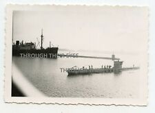 Original German WW2 U-boat photo WWII submarine foto u-boat entering harbour