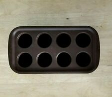 "Wilton Brownie Pops 8-Cavity Silicone Mold. cake, brown. 10.5"" x 5.5"" x 2"""