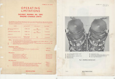 Armstrong Siddeley Double Mamba Engine service manual VERY RARE Gannet 1950's