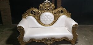 BEAUTIFUL GOLD CHAISE LOUNGE  / WEDDING SOFA / LOVE SEAT  FOR HIRE