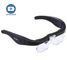YOCTOSUN  LED  Rechargeable Spectacle Magnifier Glasses USB Rechargeable 1.5x-5x