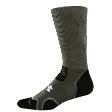 Under Armour HIKE Heavy Cushion Crew Socks –Sage/Gray Outdoor Hitch Boot –Men LG