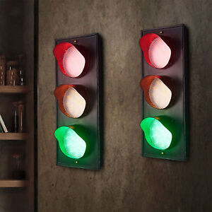 Traffic Light Style Industrial Rustic Scone Wall Light