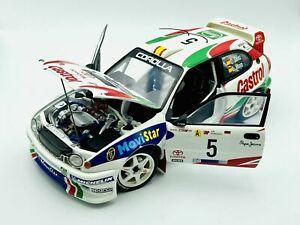 1:18 1998 Toyota Corolla WRC Rally -- Carlos Sainz/L.Moya Portugal -- AUTOart