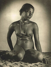 Vintage Lionel Wendt Asian Female Nude Model Photogravure Photo Print b