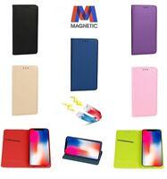 Custodia Flip Cover Smart Book Libro Per Huawei Honor Mate P8 P9 P10 Lite Y6 Pro