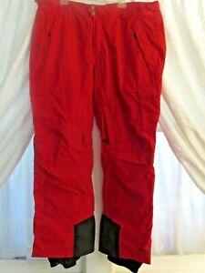 COLUMBIA RED TITANIUM OMNI-HEAT MEN'S CARGO SNOW PANT XXL REG.  EXC. COND.