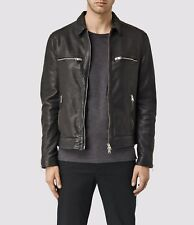 NWT AllSaints Austell Leather Jacket Black Sz XS
