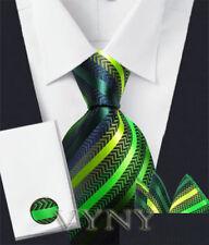 "New ""VYNY"" JACQUARD WOVEN Men's Neckties Tie+Hanky+Cufflinks Sets (VS126)"