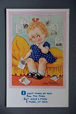 R&L Postcard: Children's Comic, J Salmon 5153 Vera Paterson, Thinking of Men