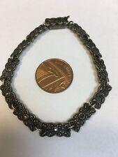 Attractive Vintage Sterling Silver MARCASITE Bracelet