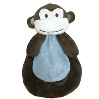 "Blanket Buddies Monkey Lovey 11"" Baby Security Blanket Soft Plush Blue Brown"