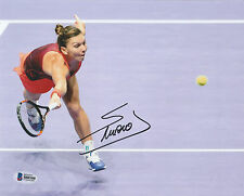 SIMONA HALEP SIGNED AUTO'D 8X10 PHOTO BAS COA FRENCH OPEN AUSTRALIAN WTA A