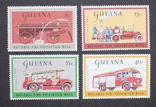 Guyana 1977 Fire Prevention Week Mint SG 677-680
