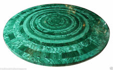 Pietra Dura Green Marble Top Table Rare Inlay Antique Mosaic Collectible AZ5729
